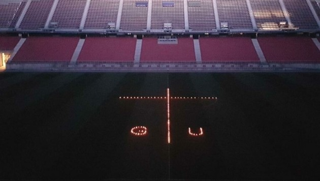 So wird im Wörthersee Stadion an Gert Unterköfler gedacht. (Bild: APA)