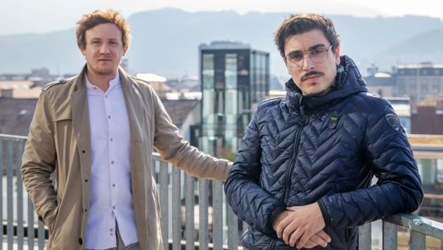 Gründer Matthias Trenkwalder (li.) und Simon Falkensteiner. (Bild: Fotograf Victor Malyshev)