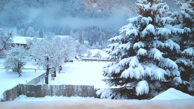 """Baldramsdorf im Schnee - fotografiert von """"Krone""""-Leserin Jenny Kuchler."""
