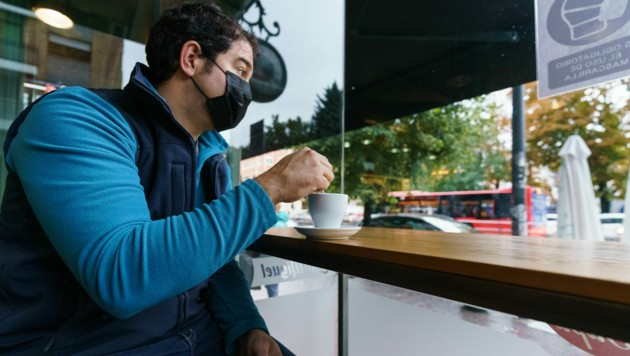 Cafés durften wieder öffnen.