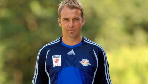 Ein Bild aus dem Jahr 2006: Hansi Flick als Co-Trainer des FC Red Bull Salzburg (Bild: GEPA pictures)