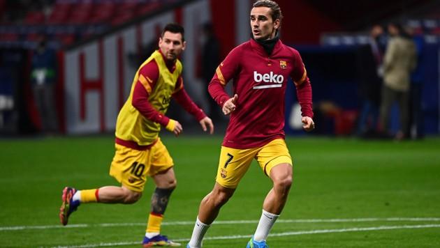 Antoine Griezmann (re.) und Lionel Messi (Bild: AFP )