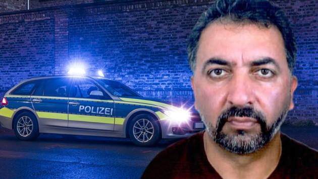 Die Polizei in München fahndet nach diesem Mann. (Bild: Polizei München, stock.adobe.com, Krone KREATIV)