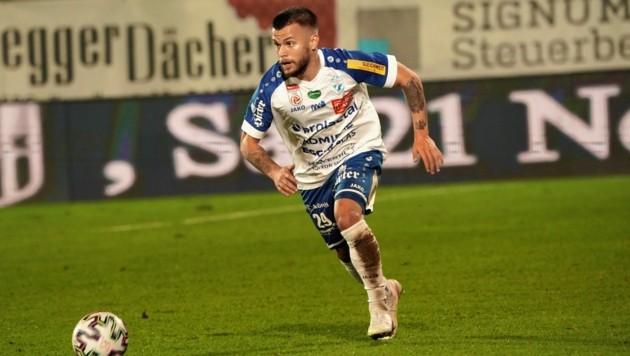 Sascha Horvath will heute mit Hartberg seinen Ex-Klub Austria aus dem Cup werfen. (Bild: Sepp Pail)