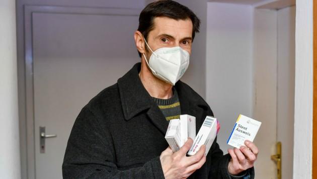 Horst K. (52) muss seit dem Infarkt ständig Medikamente einnehmen.