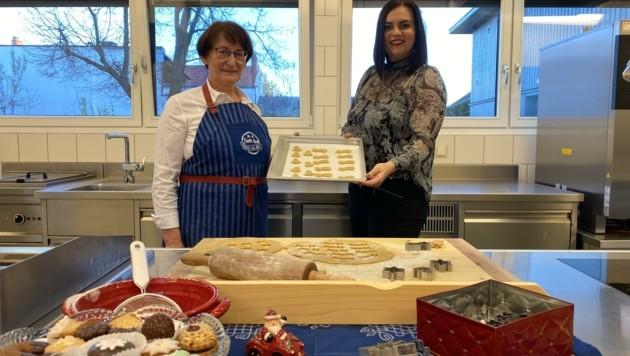 Auch Andrea Grabner (li.) auch Schattendorf vertreibt Tante Dea's Kekse online (Bild: lms)