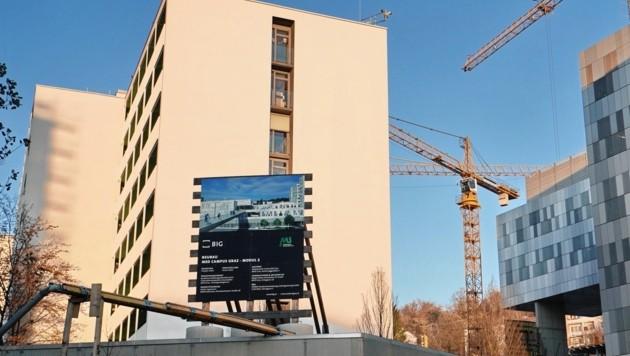 Auf der Grazer Med Uni gibt es im Moment anscheinend nicht nur äußerlich einige Baustellen. (Bild: Sepp Pail)