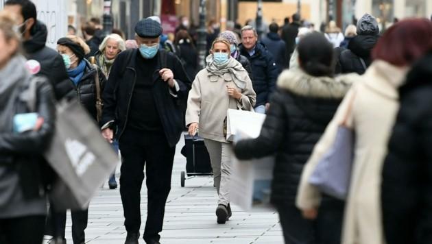 Die Wiener Innenstadt am Tag vor Beginn des zweiten Lockdowns (Bild: APA/Helmut Fohringer)