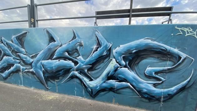 Graffiti-Kunst auf Salzburgs in Salzburg Stadt (Bild: Karina Langwieder)