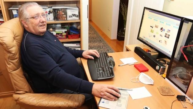 Pensionist Johann E. kämpft für einen besseren Netzanschluss