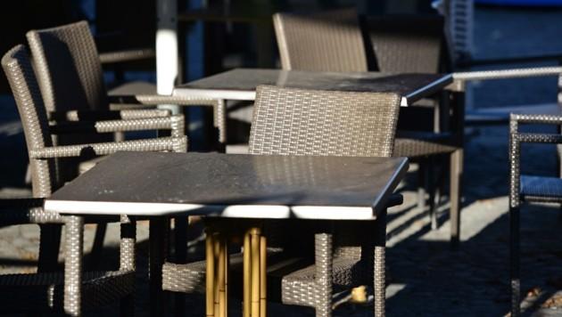 Die Tische in der Gastronomie bleiben derzeit leer