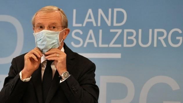 Landeshauptmann Wilfried Haslauer (ÖVP) will doch nicht mehr garantieren. (Bild: BARBARA GINDL)