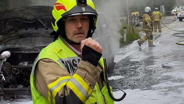 Öhlinger ist der St. Veiter Feuerwehrkommandant. (Bild: FF St. Veit)