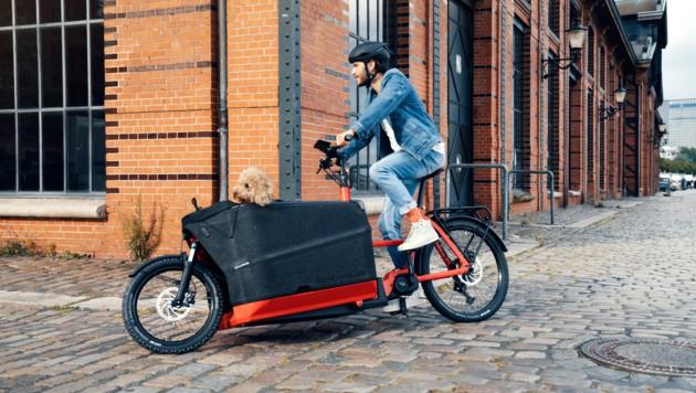 Mit eCargo Bikes lassen sich sowohl Familie oder größere Lasten spielend leicht transportieren.