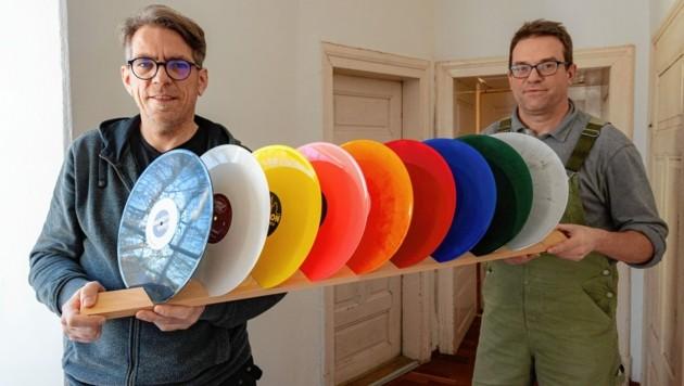Peter Wendler und Johann Fauster starten in Fehring mit ihrer Firma Austrovinyl neu durch