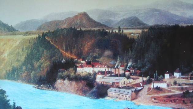 Bis zum Ende des 19. Jahrhunderts war Lippitzbach ein großes Zentrum der Stahlindustrie (Bild: Hronek Eveline)