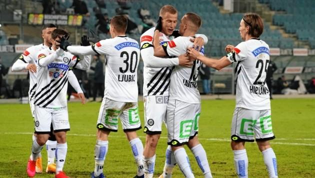 Sturm jubelt weiter - drei Siege in Serie. (Bild: Sepp Pail)
