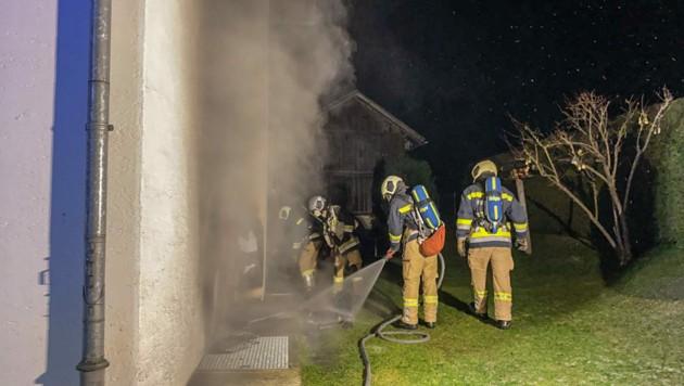 Die Außenfassade des Hauses in Silz wurde verrußt