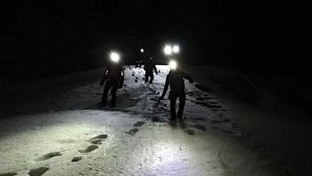 Schwieriger Nacht-Einsatz für die Leoganger Bergretter