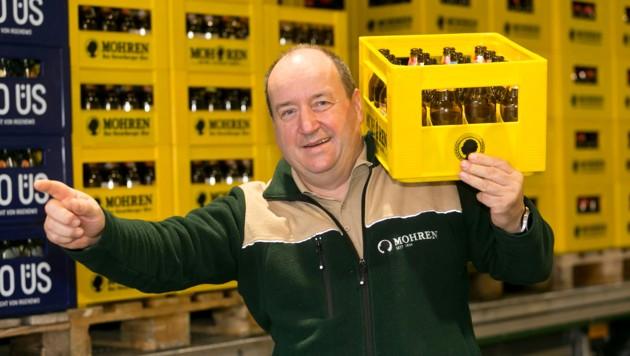 Mohren Brauerei-Gewerkschaftsverhandler Erwin Staudinger (Bild: Mathis Fotografie)