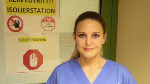 Die Schicksale Covid-19-Erkrankter und ihrer Betreuer: Heute berichtet darüber Diplom-Krankenpflegerin Tanja Zivkovic aus dem Spital Tulln. (Bild: UK Tulln)