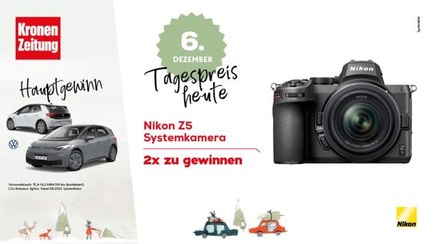 (Bild: Adobe Stock, Kronen Zeitung, Nikon, VW)