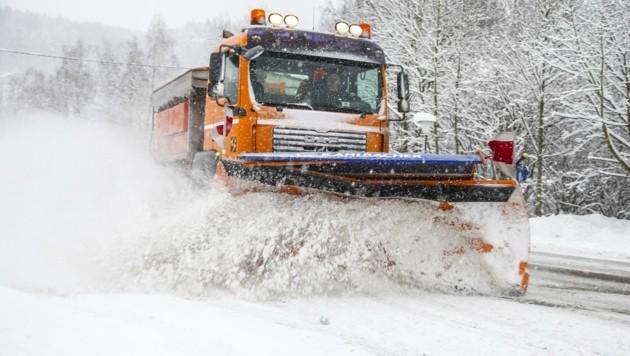 Wenn die Prognosen stimmen, dürfen wir am Wochenende mit Schneemassen rechnen. (Bild: Neumayr/SB)