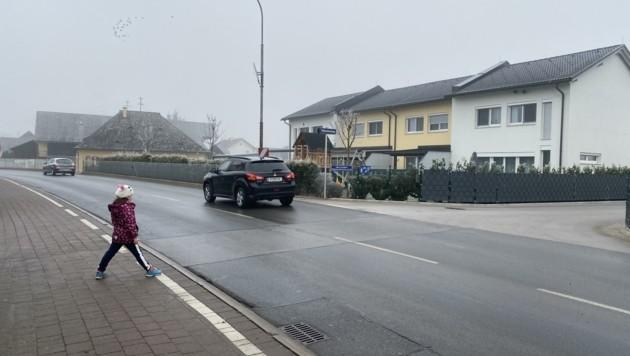 In Lendorf fehlt ein sicherer Übergang für Fußgänger