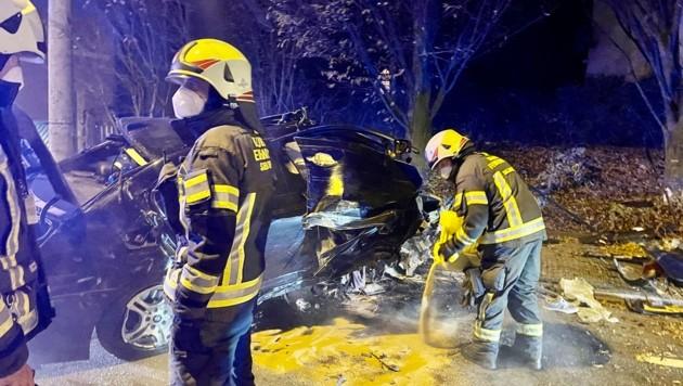 Der Beifahrer wurde beim Unfall schwer verletzt. (Bild: Markus Tschepp)