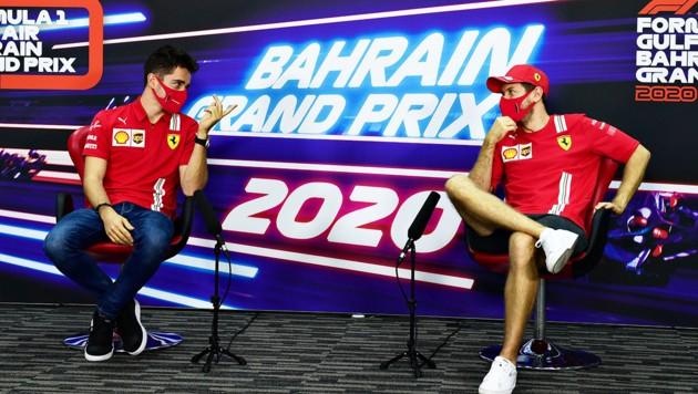 Charles Leclerc (li.) und Sebastian Vettel (Bild: APA/AFP/FIA/Mario RENZI)