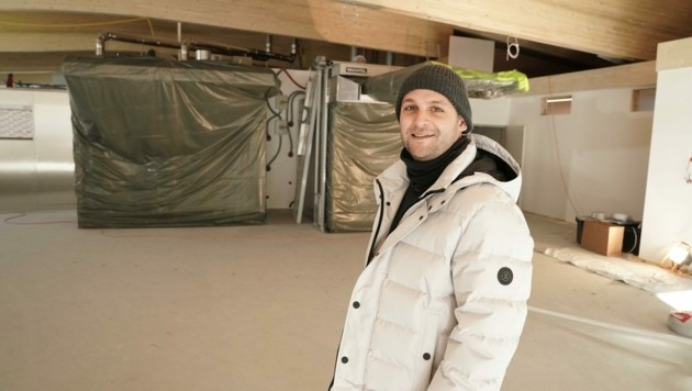 Sebastian Knapp in der neuen Bäckerei
