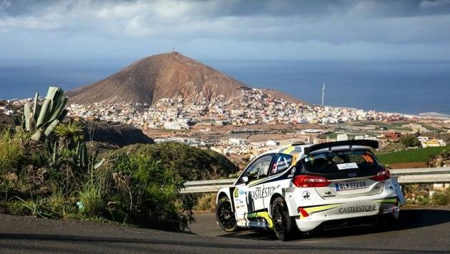Der Steirer Niki Mayr-Melnhof im Ford Fiesta bei der Rallye auf Gran Canaria. (Bild: Rally Photo Service)