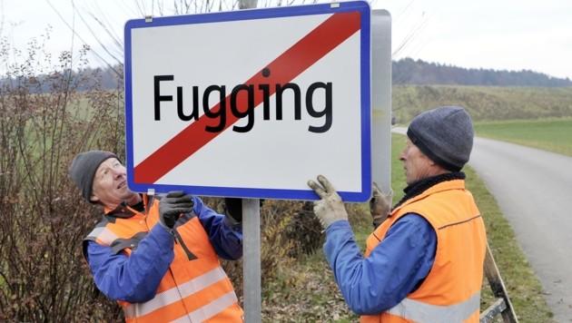 Am 1. Jänner wurde aus der Ortschaft Fucking Fugging. (Bild: Manfred Fesl)