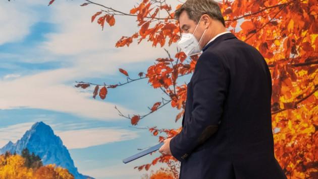 Der bayrische Ministerpräsident Markus Söder (CSU) hält die neuen Corona-Regeln in Österreich für richtig. (Bild: AFP)