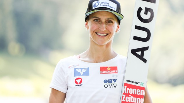 Die Vorarlberger Skispringerin Eva Pinkelnig wird auch in der kommenden Saison wieder abheben. (Bild: GEPA pictures)