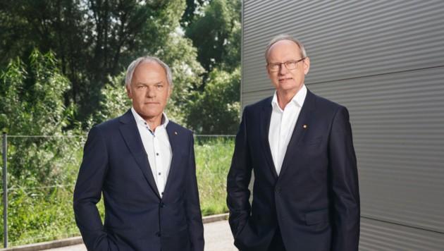 Manfred Zauner und Franz Maurer führen die Zaunergroup. (Bild: Zaunergroup/Streitfelder)