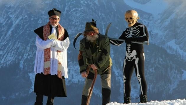 Traditionelles Spiel vor spektakulärer Kulisse: Das NIkolospiel in Bad Mitterndorf ist immaterielles Unesco-Kulturerbe. (Bild: Aster)