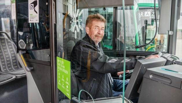 Alfred Tenner ist verantwortlich für den Bus-Betrieb in Graz.