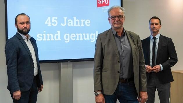 v.l.n.r.: Max Lercher, Oswald Hager und Klubobmann Robert Hergovich (Bild: SPÖ)