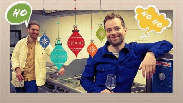 Lucas Humann und Georg Schütky veranstalten das Online-Dinner im Theater an der Parkaue (Bild: z.V.g.)