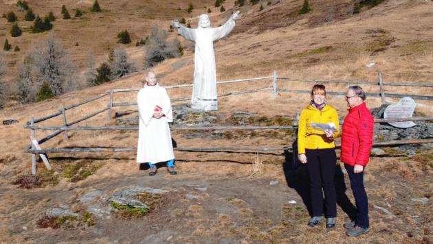 Die Online-Bergandacht der ersten Adventwanderung fand auf dem Katschberg statt. (Bild: Hannes Wallner)