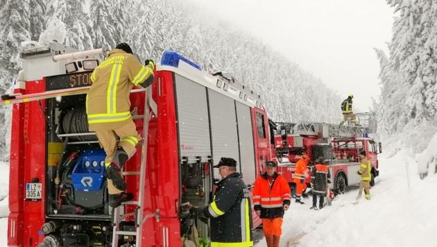 Die Feuerwehren werden wieder Bäume von der Schneelast säubern müssen. (Bild: Brunner Images | Philipp Brunner)