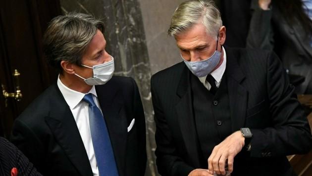 Karl-Heinz Grasser und Walter Meischberger kämpfen weiter um einen Freispruch. Das Buwog-Verfahren geht weiter. (Bild: APA/HELMUT FOHRINGER/APA-POOL)