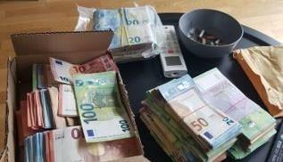 Sichergestellt: 103.000 Euro und insgesamt 21 Kilo Cannabis