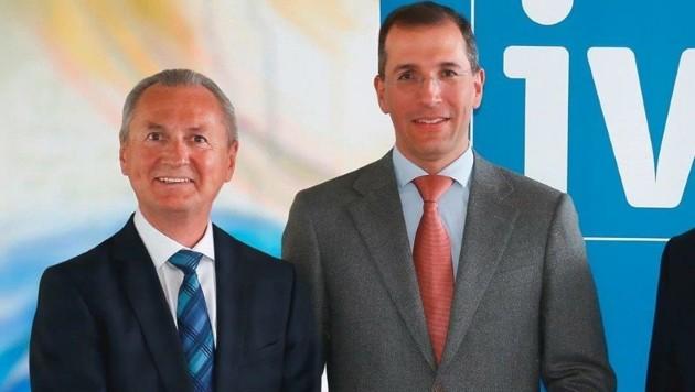 IV-Präsident Christoph Swarovski (re.) und Geschäftsführer Eugen Stark werben um Fachkräfte.