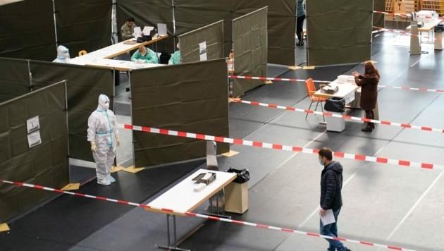 In Braunau lief der erste Testtag geordnet ab. (Bild: Daniel Scharinger)