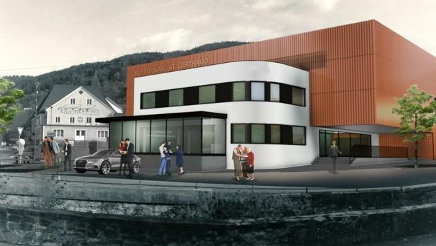 So wird der Aufbau auf die Bäckerei aussehen. (Bild: Gemeinde/Architekt Petschenig ZT GmbH)