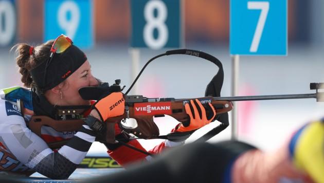 Die Pinzgauerin Julia Schwaiger wusste beim Weltcup in Kontiolahti zu überzeugen. (Bild: GEPA pictures)