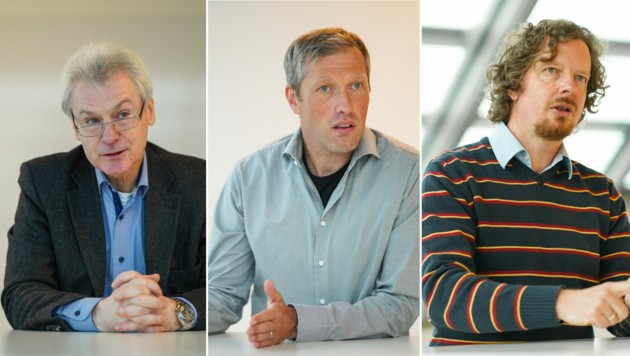 Stolz auf den Landespreis für Innovation: Rainer Aufischer (l.), Stefan Aigner, Johann Nagl (r.).