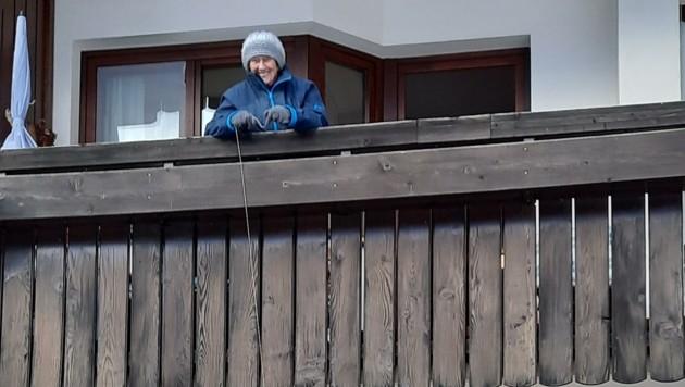 Bewohnerin Erna Lanner (96) überraschte ihre Liebsten. (Bild: zVg)